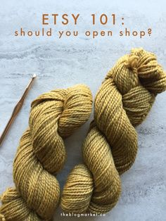 One of my goals for this year is to open an Etsy shop for my crochet... this is a great post on knowing when you should or shouldn't do just that. #Etsy #DIY
