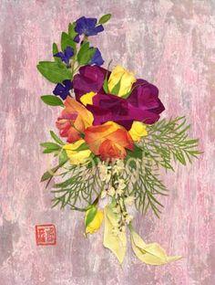 Art by Shelley Xie...pressed flower art