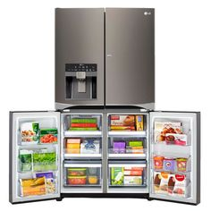 LG Black Stainless Steel Series™ 30CuFt 4-Door French Door Refrigerator with Double Door-In-Door | LPXS30866D