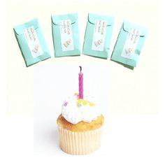 NEW 4 Birthday Cake Scented Mini Sachets by pebblecreekcandles, $12.00 #birthday #aqua