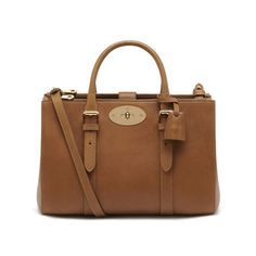 10f8502449c7 Mulberry - Small Bayswater Double Zip Tote in Oak Natural Leather Fashion  Handbags