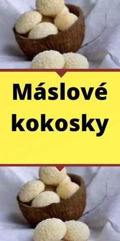 Máslové kokosky Place Cards, Muffin, Place Card Holders, Breakfast, Food, Morning Coffee, Essen, Muffins, Meals