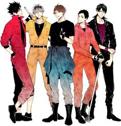 This is kind of as if they were a boygroup bc of the colors XD #HQ!! #Haikyuu!!