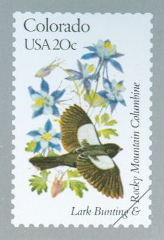 US Stamp - Colorado State Birds n Flower Living In Colorado, State Of Colorado, Art Postal, Going Postal, Postage Stamp Art, State Birds, Love Stamps, Mail Art, Stamp Collecting