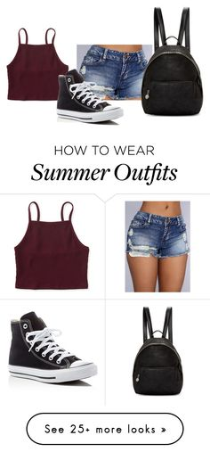 """Hot summer day outfit"" by samantha-b872 on Polyvore featuring Aéropostale, Converse and STELLA McCARTNEY"