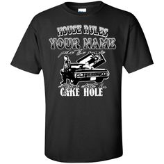 Custom T-Shirt: House Rules {Your Name} Picks The Music