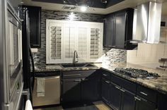"""Eden Mosaic Tile Thin Stainless Brick Mosaic - Silver And Black - EMT_W1222-MIX-SM """"...I love it. I got four compliments on the tile the first day..."""" Stacie S."""