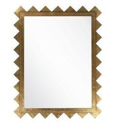 Montague Gold Foil Rectangular Mirror