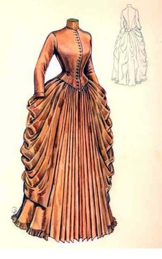 Mid 1880's day dress. Looks like a design I could live with.