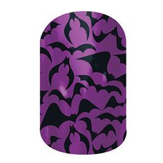 Black Bats  nail wraps by Jamberry Nails This would be great choice for a vampire or witch costume.