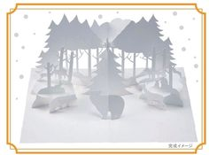 Hiroko - Winter Forest - Khu rừng giáng sinh - Kirigami pattern and Manual.