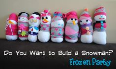 Frozen Inspired Party Theme, featuring Snowmen, of course! www.orsoshesays.com #frozen #disney #parties