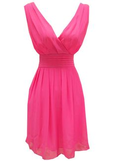 Red Sleeveless V Neck Chiffon Dress   //  white heels  bag  //  pearls