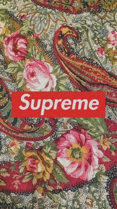 Supreme floral wallpaper Mehr