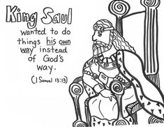 Saul bible story coloring page church sunday school for Bible coloring pages king saul