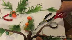 How to make nylon stocking - Orange tree - YouTube