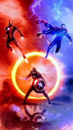 Captain America, Iron Man & Thor, Avengers: End Game Iron Man Avengers, Marvel Avengers, Marvel Comics Superheroes, Marvel Art, Marvel Heroes, Poster Marvel, Films Marvel, Marvel Characters, Thor