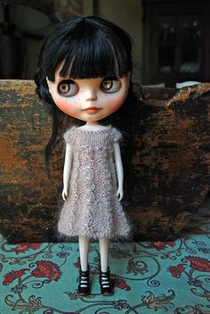 Blythe Doll Knitted Mohair and Wool Dress