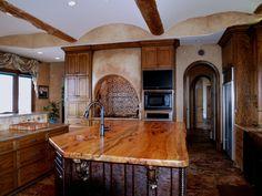 DeVos Custom Woodworking - Spalted Pecan Wood Countertop Photo Gallery