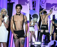 Is anyone else totally blushing right now? Tyler Posey, 23, made all the girls swoon when he stripped down to nearly nothing at the MTV Fandom Awards during San Diego's Comic-Con on July 9. The Teen Wolf hunk and host of the event showed off his sexy abs in just his underwear. Yum!   Can Tyler even go a whole day without going shirtless? We don't think so. But we can't blame him! The actor showed off his impressive physique — especially his six-pack abs — during a segment at the MTV Fandom…