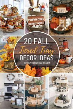 Get some inspiration for decorating your Fall tiered tray. From farmhouse fall tiered tray decor ideas to rustic fall tiered trays, there are plenty of fall decorations for your tiered tray to choose from. Thanksgiving Decorations, Fall Decorations, Thanksgiving Ideas, Holiday Ideas, Autumn Ideas, Seasonal Decor, Holiday Fun, Halloween Decorations, Tiered Stand