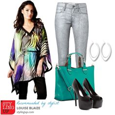 A great #outfit to wear to work styled by our #stylist Louise Blaize based on a pair of silver denim jeans from French Connection that are on sale at £29