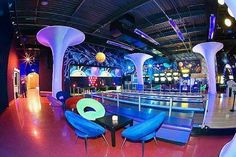 Space Odyssey in Englewood New Jersey is a great place to through an event! 100 video games, laser tag arena, bowling alley, private party rooms, VIP lounges and a Candy Wall.