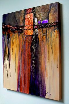 PRECIOUS METALS, 9108, metals and mixed media abstract © Carol Nelson Fine Art, Colorado, USA
