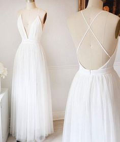 open back v-neck tulle sexy white long cheap prom dress White Prom Dress, V-neck Prom Dress, Sexy Prom Dress, Prom Dresses, Prom Dress Cheap Prom Dresses 2019 Pageant Dresses For Teens, Open Back Prom Dresses, V Neck Prom Dresses, Prom Dresses 2018, Tulle Prom Dress, Cheap Prom Dresses, Trendy Dresses, Sexy Dresses, Beautiful Dresses