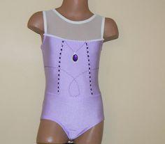 Sofia the First Inspired Gymnastics Dance  Short Sleeve Leotard  Size 2T - Girls 10 $45