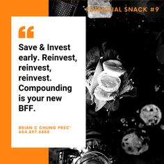 Warren Buffett, a very wiseman once said that the wonder of the world is compounding interest. In the investment world, I like to think of it as your new BFF. Remember to reinvest where you can! Warren Buffett, Financial Literacy, Wonders Of The World, Bff, Investing, Sayings, Lyrics, Quotations, Idioms
