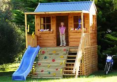 Awesome Kids Hideout · Backyard PlayhouseBackyard PlaygroundPlayhouse IdeasKid  ...