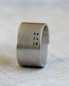 Men's personalized ring important date ring from Praxis Jewelry