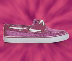 "Sperry Top-Siders Women's Glitter Boat Shoe in Raspberry Spark ... Just got em:) yup they're very ""Barbie"" lol"