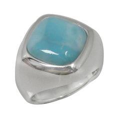 Larimar Rings, Sterling Silver Rings, Stone, Elegant, Simple, Bijoux, Dapper Gentleman, Rock, Chic