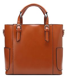 Generic Women's Upright Brown Leather Handbag Small -- You can find more details by visiting the image link.