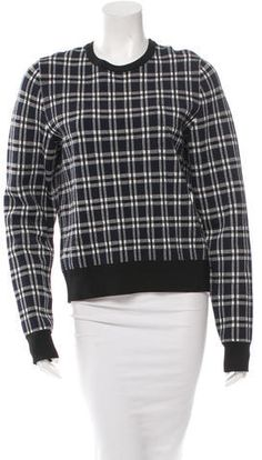 A.L.C. Plaid Crew Neck Sweater Crewneck Sweaters, Crew Neck, Just For You, Plaid, Stylish, Blouse, Tops, Women, Fashion