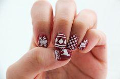CHRISTMAS MANI MONDAY! http://www.jennsphilosophy.com/2013/12/mani-monday-burgundy-christmas.html … #christmas #nails #manicure #ManicureMonday #christmasnails #holidays