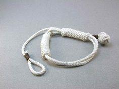 Turks head knot bracelets and contemporary fiber bracelets: big barrel knot rope bracelet 2476