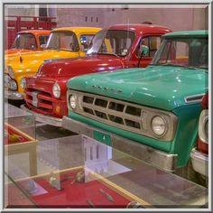 Vintage Ford cars of different colors in Sheikh...Museum near Al-Shahaniya. Doha, Qatar