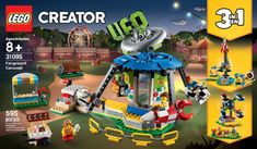 Shop LEGO Creator Fairground Carousel 31095 at Best Buy. Lego Disney, Lego Creator Sets, The Creator, Lego Avengers, Alien Crafts, Ice Cream Cart, Shop Lego, Brand Character, Toys R Us Canada