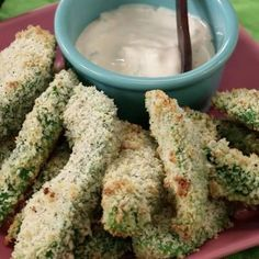 Make healthy avocado fries with a homemade cilantro dipping sauce for your next party appetizer. This tasty and easy recipe replaces greasy fries with healthy fats and other nutrients from the superfood avocado. Don't forget the flavorful but healthy dipping sauce recipe!