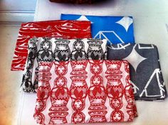 Ivana Helsinki for Luhta. Cute cloth napkins designed and sold exclusively in NYC.