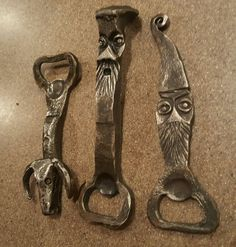 Blacksmith Projects, Bottle Openers, Knife Handles, Sign Design, Blacksmithing, Can Opener, Welding, Home Projects, Hand Guns