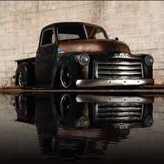pictures of rat rod trucks Bagged Trucks, Lowered Trucks, Chevy Pickup Trucks, Classic Chevy Trucks, Gm Trucks, Chevy Pickups, Cool Trucks, Truck Drivers, Antique Trucks