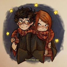 Harry and ginny, harry potter magic, harry potter ships, harry pott Harry Potter Ships, Harry Potter Magic, Harry James Potter, Harry Potter Anime, Harry Potter Cast, Harry Potter Fan Art, Harry Potter Characters, Harry Potter Universal, Harry Potter World