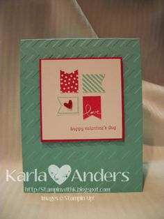 A Work of Heart...super cute card made with the Stampin' Up! Sale-a-Bration set called Banner Blast.