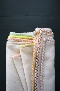 Give a simple blanket a custom touch with fast and easy DIY embroidered edging.