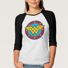 Wonder Woman Circle & Stars Logo Shirt