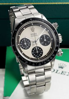 Rolex Ref 6263 Steel Paul Newman Rolex Daytona Watch, Rolex Cosmograph Daytona, Sport Watches, Cool Watches, Rolex Watches, Wrist Watches, Vintage Military Watches, Vintage Watches, Rolex Paul Newman